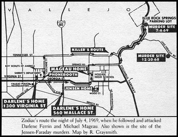 Robert Graysmith Crooked Compass Graysmith Vallejo MAP.jpg