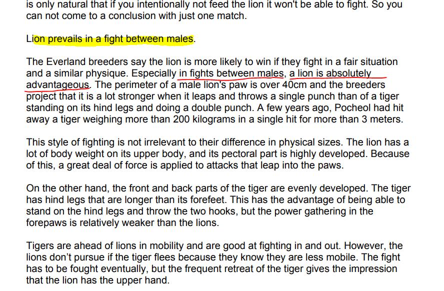 Lion defeats male tigers - wildanimalwarfare