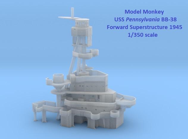 Model Monkey 1-350 Pennsylvania Superstructure 1945 forward.jpg