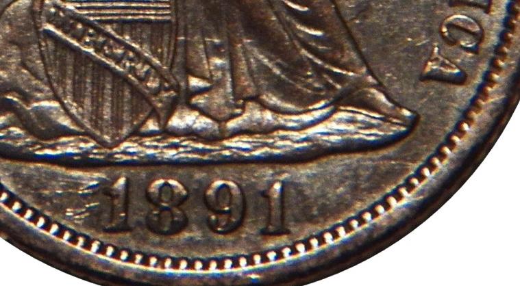 6-28-2018  1891-o  dime NEW DIE PAIR  proof dies from 1891-P mint 041a obvsa.jpg